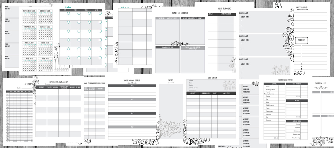 graphic about Mom Planner Printable titled The Unorganized Homeschool Mother Planner