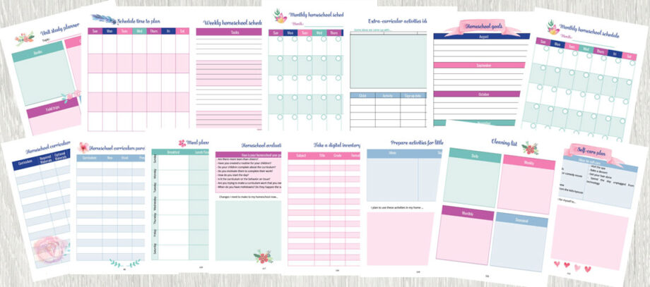 Homeschool Planning for the Unorganized Mom Printables