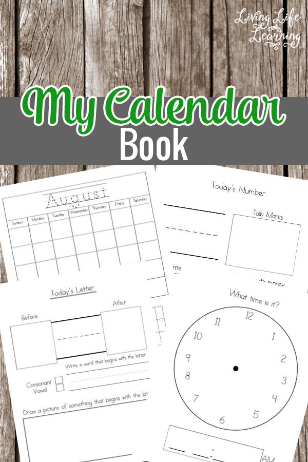 My Calendar Book Printable