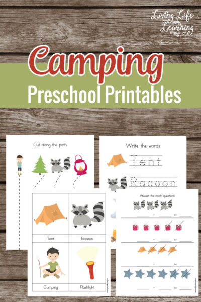 Camping Preschool Printables
