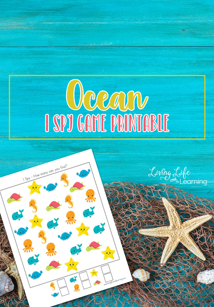 Ocean I Spy Game Printable
