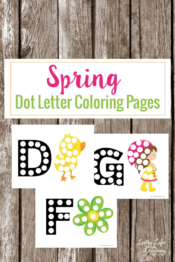 Spring Dot Letter Coloring Pages