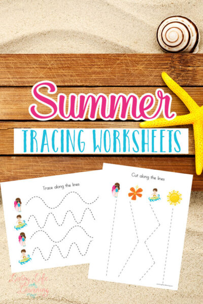 Summer Tracing Worksheets