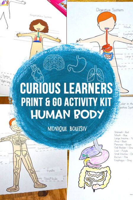 Curious Learners Print & Go Activity Kit: Human Body
