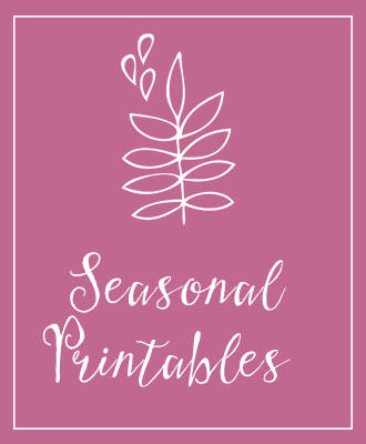 Seasonal Printables