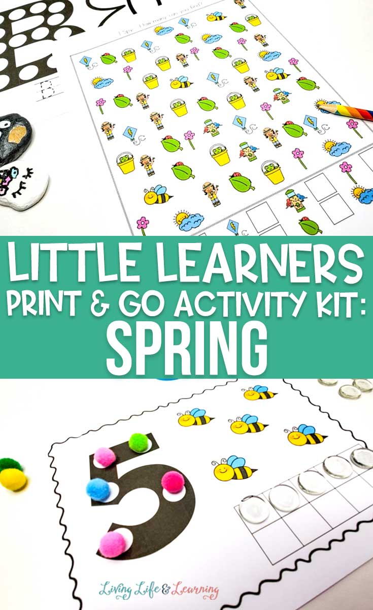 Little Learners print and go activity kit spring