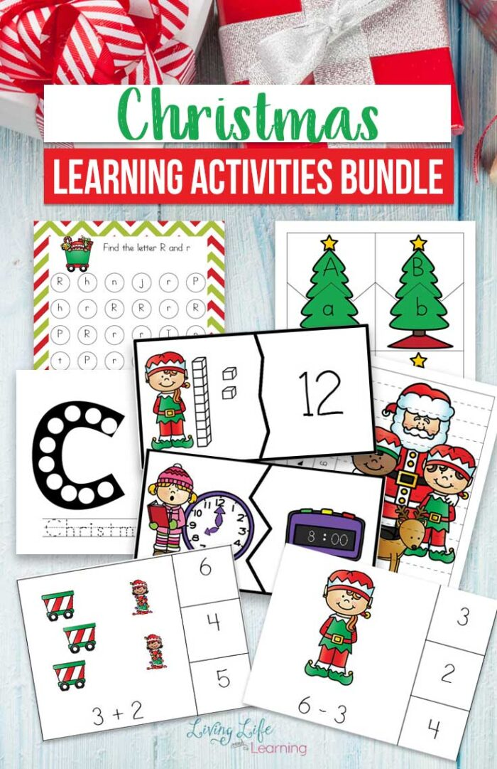 Make learning fun with this amazing Printable Christmas Learning Activities bundle for preschoolers and kindergarten students this holiday season.