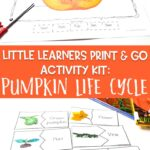 Little Learners Print & Go Activity Kit: Pumpkin Life Cycle
