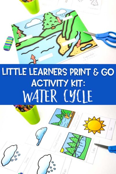Little Learners print and go activity kit water cycle