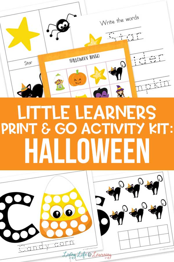 Little Learners print and go activity kit Halloween