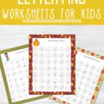 Fall Cursive Letter Find Worksheets