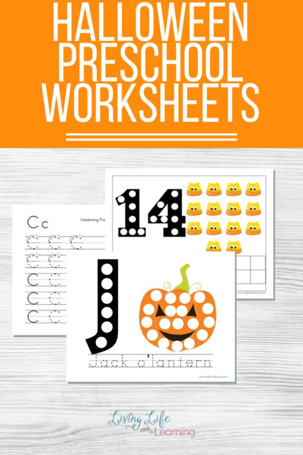 Halloween Preschool worksheets