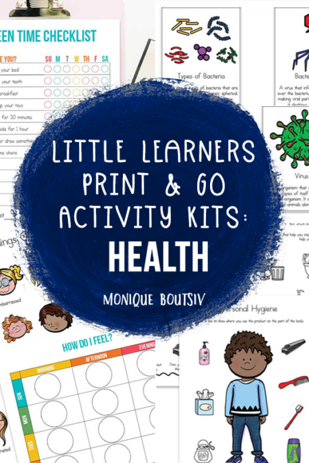 Little Learners Print & Go Activity Kits: Health