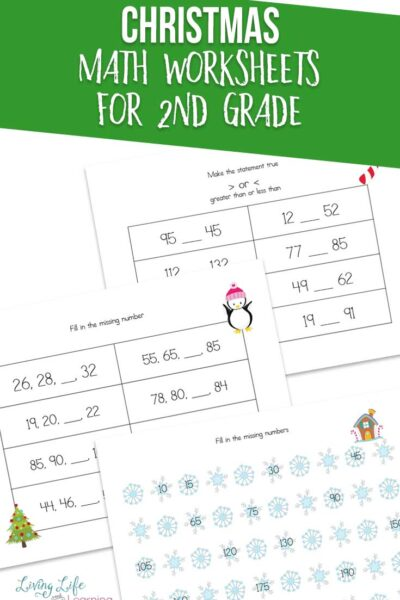 Christmas Math Worksheets for 2nd Grade