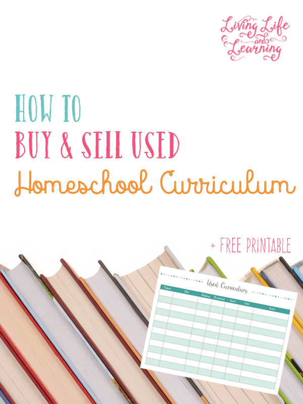 How to Buy and Sell Used Homeschool Curriculum + Free Printable