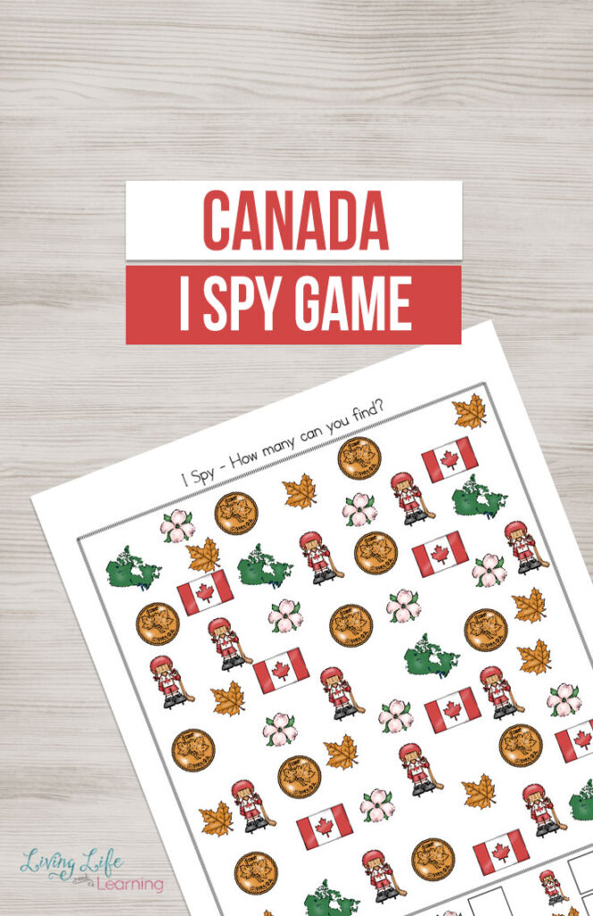 Printable Canada I Spy Game