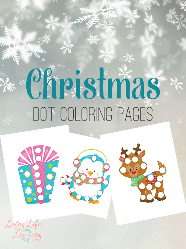 Christmas Dot Coloring Pages