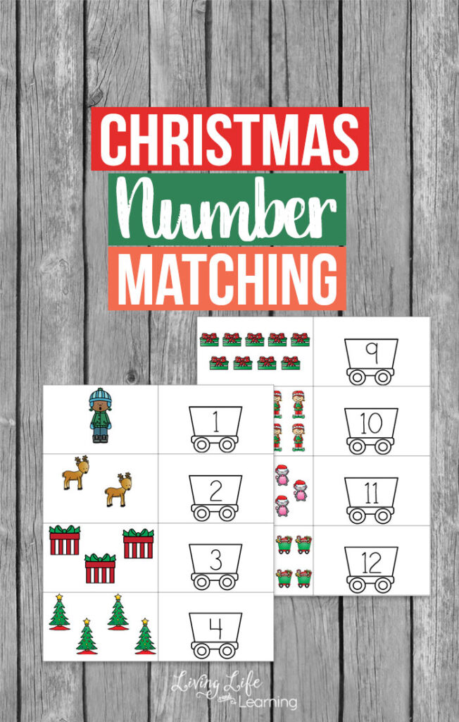 Christmas Number Matching Printable