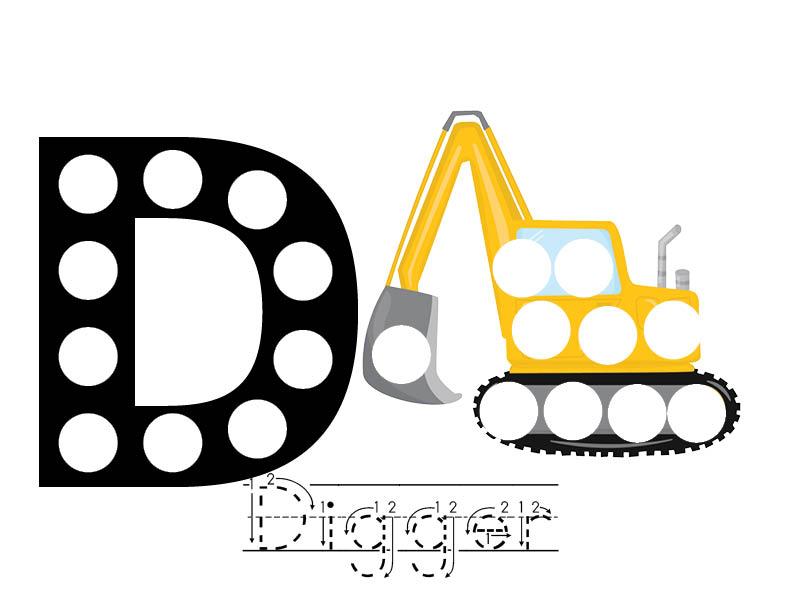 Digger Printables