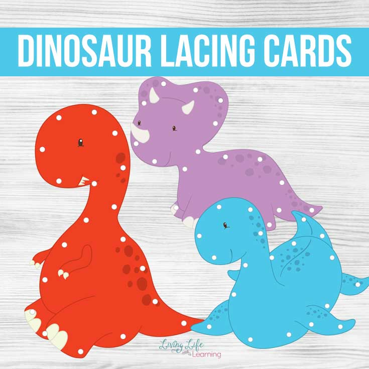 Dinosaur Lacing Cards