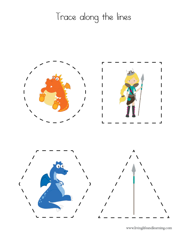 Dragon Tracing Worksheets