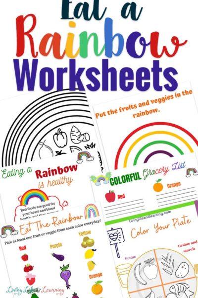 Eat a Rainbow Worksheets
