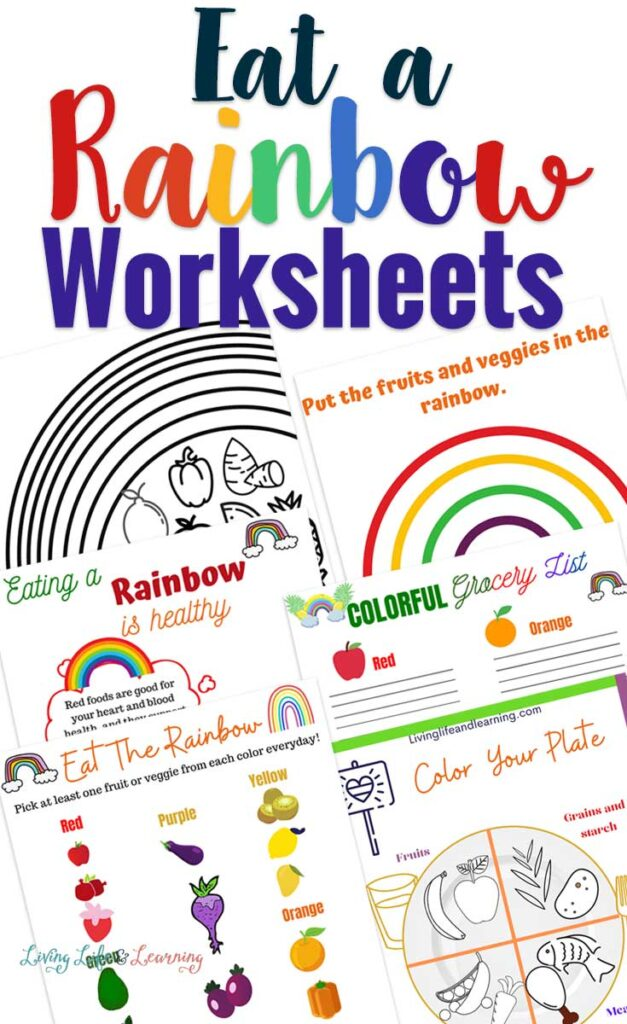 Eat a Rainbow Worksheets