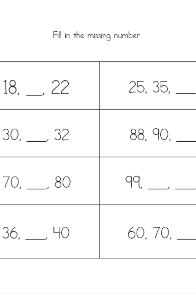 Fall Math Worksheets for 2nd Grade