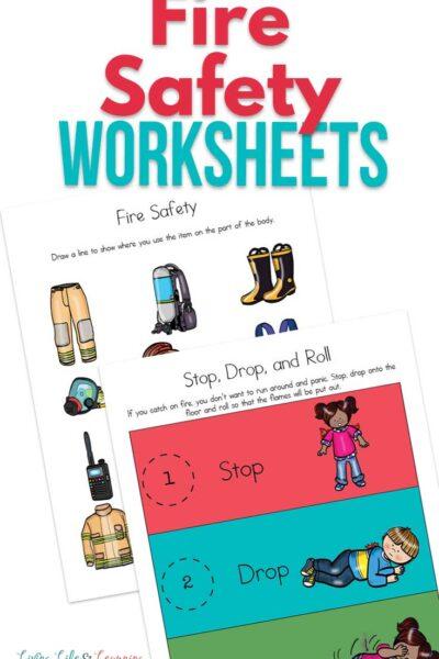 Fire Safety Worksheets for Kids