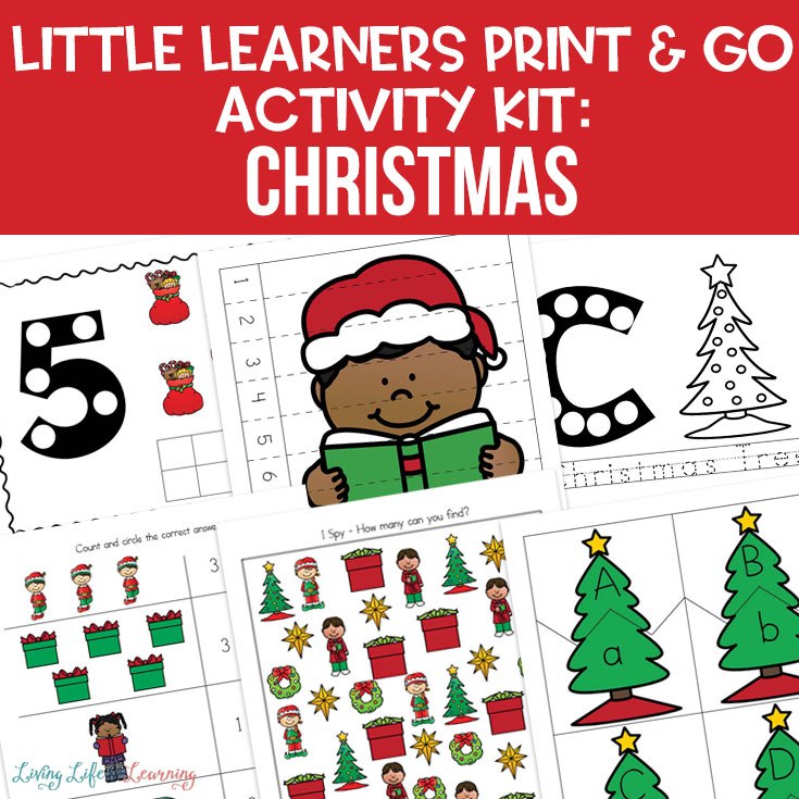 Little Learners print and go activity kit Christmas