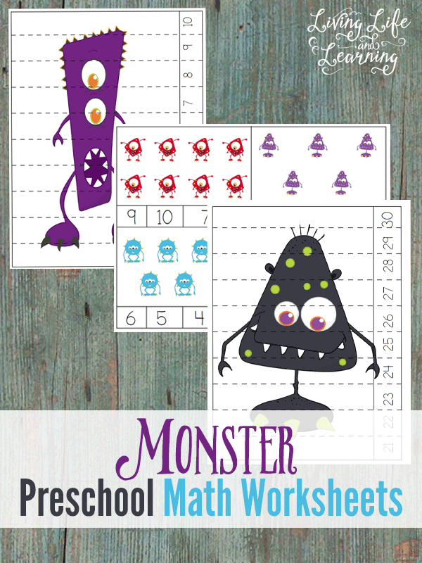 Monster Preschool Math Worksheets