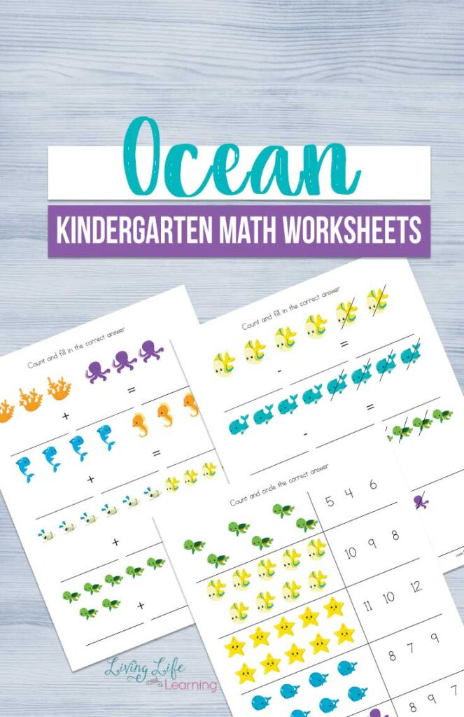 Ocean Kindergarten Math Worksheets