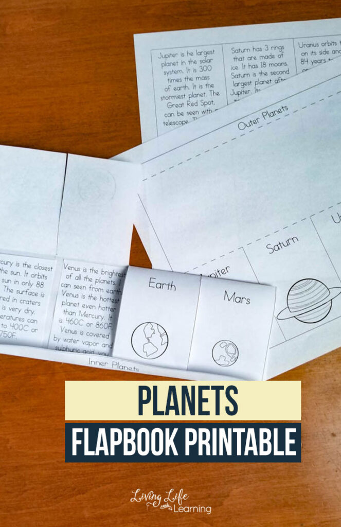 Planets Flapbook Printable