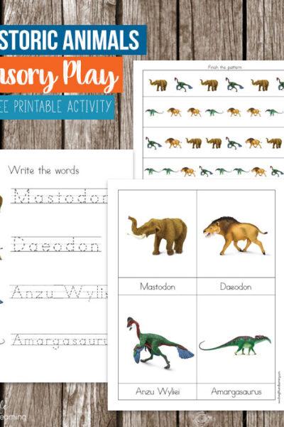 Prehistoric Animals Printables