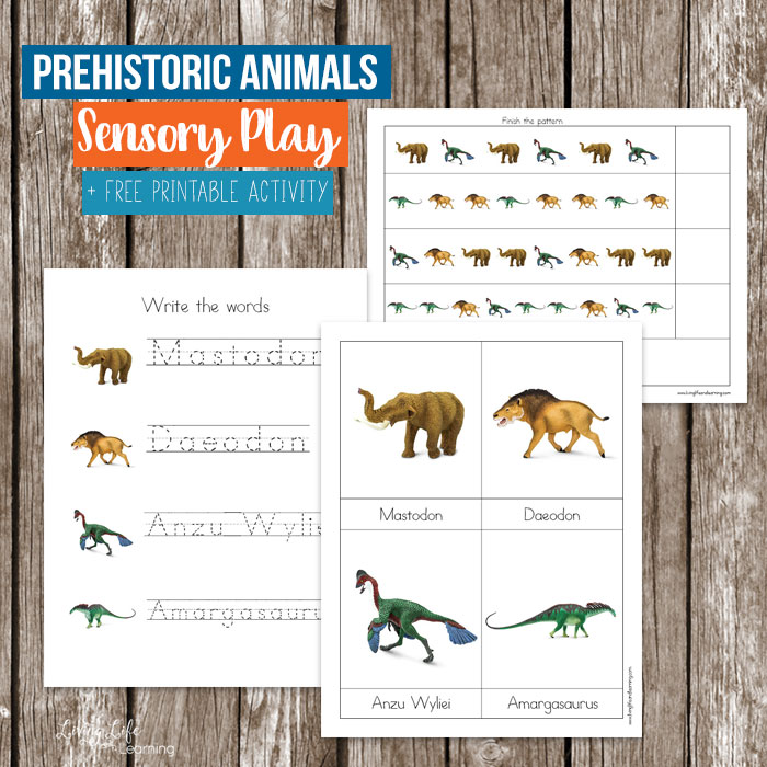 Prehistoric Animals Printables