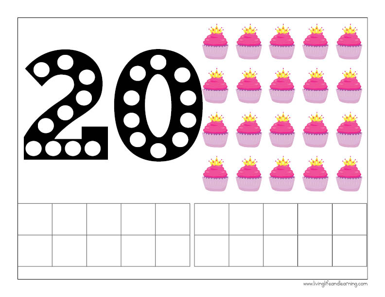 Princess Counting Mats 1-20