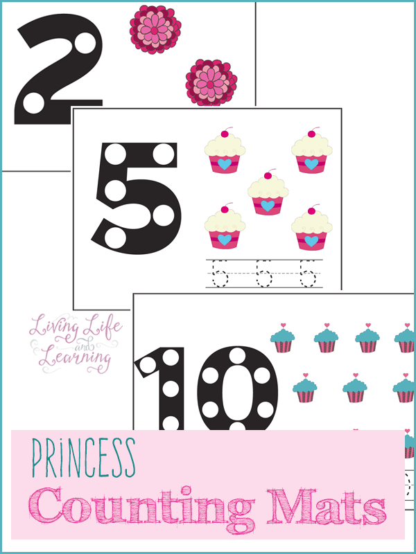 Princess Counting Mats