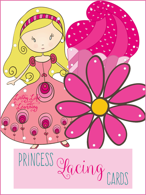 Princess Lacing Cards