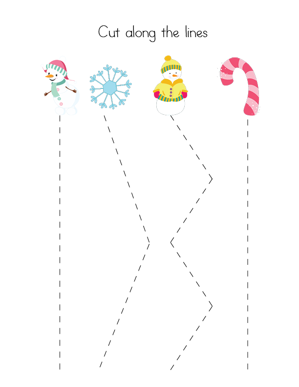 Snowman Tracing Worksheets