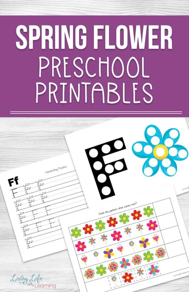 Spring Flower Preschool Printables