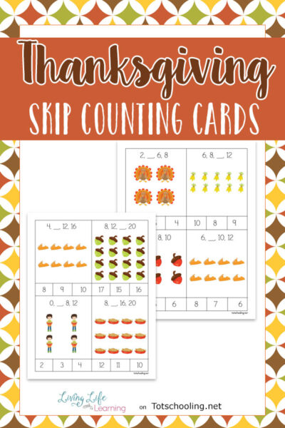 thanksgiving skip counting cards