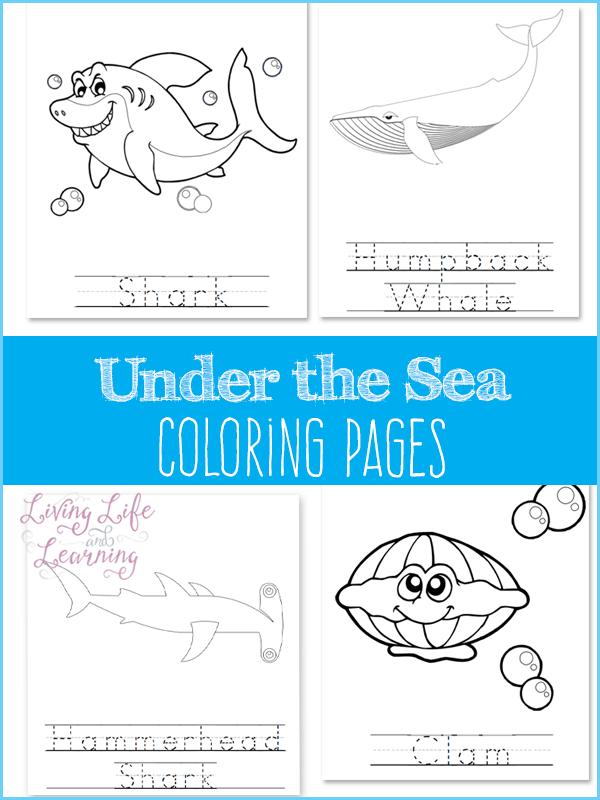 Free Under the Sea Coloring Pages