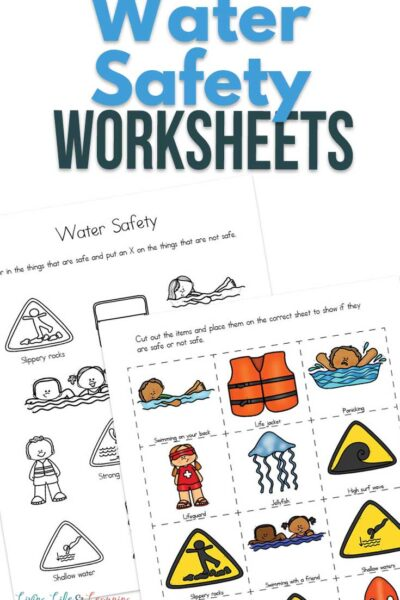 Water Safety Worksheets for Kids