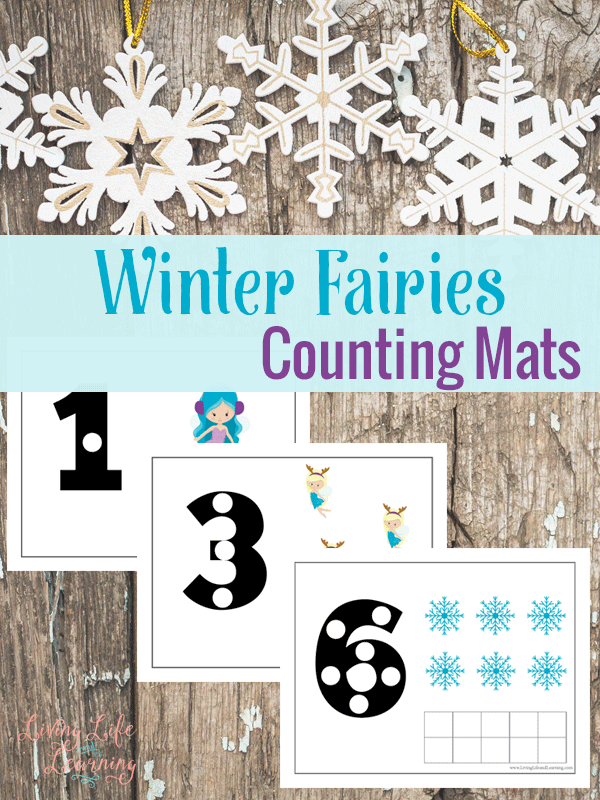 Winter Fairies Counting Mats
