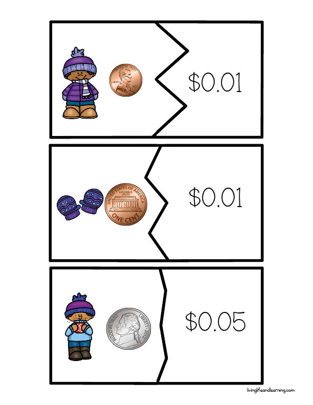 Winter Money Puzzles