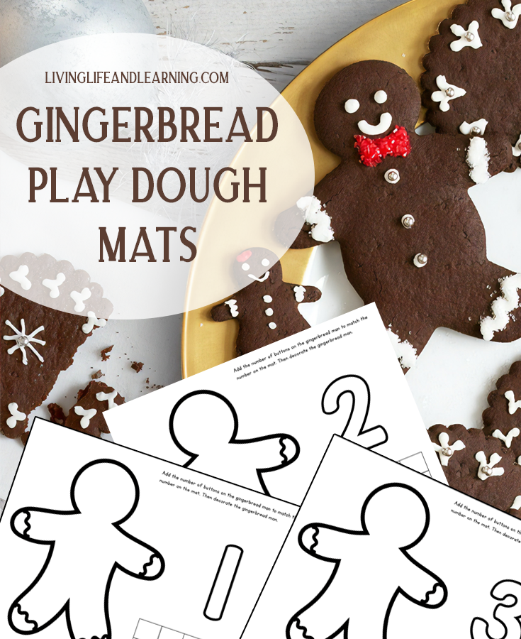 Gingerbread Man Play Dough Mats