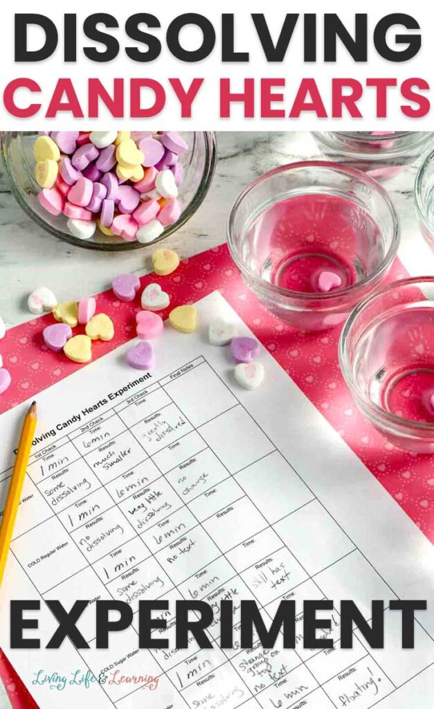 Dissolving Candy Hearts Worksheet