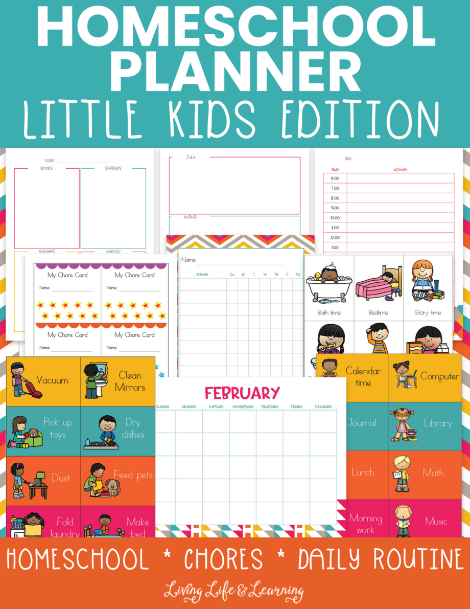 Homeschool planner little kids edition