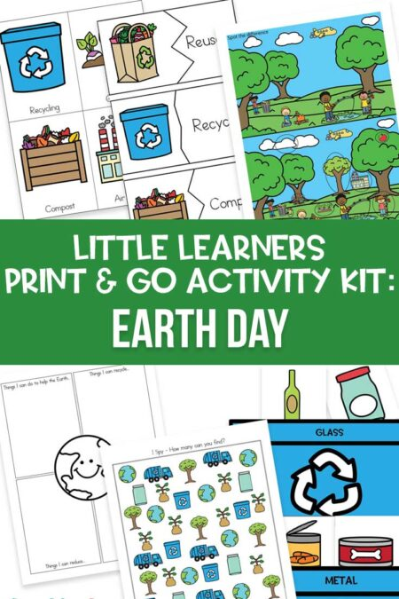 Little Learners print and go activity kit Earth day