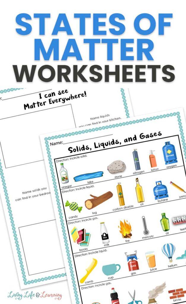 States of Matter Worksheets